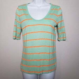 J.Crew green and orange t-shirt sz XS